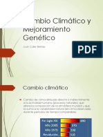 Cambio Climatico y Mejoramiento Genético