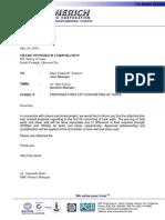 073 Endorsement Letter