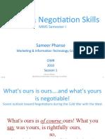 Negotiation Skill Session 1
