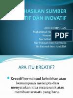 Penghasilan Sumber Kreatif Dan Inovatif