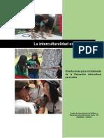 Orientaciones Sobre La Interculturalidad en La Escuela