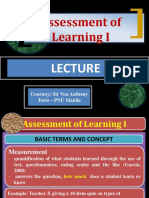CBRC Assessment of Learning I