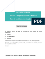 Test Mathematique Savoirs Base