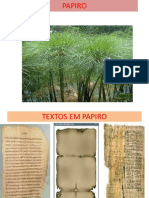 Introdução Bíblica Papiro Slides