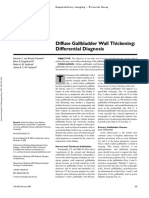 Diffuse Gallbladder Wall Thickening - Differential Diagnosis
