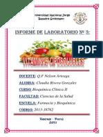 Informe de Laboratorio No 3 Vitaminas Liposolubles