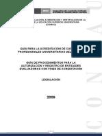 Tomo III Guias Para La Acreditacion de Carreras y Para La Autorizacion y Registro de Entidades Evaluadoras
