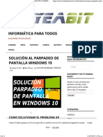 Solución Al Parpadeo de Pantalla Windows 10 defiitivo