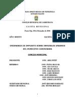 33. Ordenanza de Impuesto Sobre Inmuebles Urbanos Del Municipio Carirubana