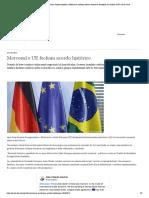 Mercosul e UE fecham acordo histórico _ Notícias e análises sobre a economia brasileira e mundial _ DW _ 28.06.2019