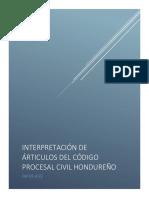Interpretacion de Articulos Cpc