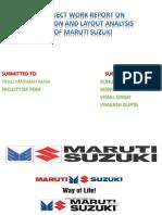 Location and Layout Analysis of MARUTI SUZUKI