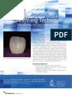layering technique on anterior resin composite