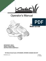Cub Cadet CLT-538 Lawn Tractor