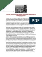 O Direito Internacional Dos Direitos Humanos e a Redefinição Da Cidadania No Brasil