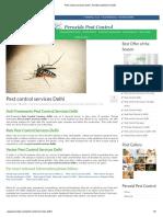 Pest Control Services Delhi
