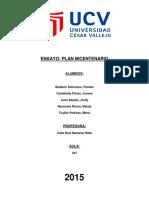 Ensayo Final Plan Bicentenario
