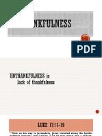 Unthankfulness