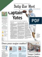 The Daily Tar Heel for November 8, 2010