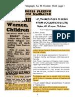 1946 Massacre in Bengal, India