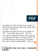 Quiz on Projectile