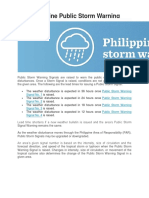 The Philippine Public Storm Warning Signals (2)