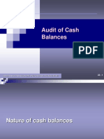 Audit Cash Balance
