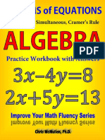 [Algebra Practice Workbook With Answers Improve Your Math Fluency Series] Chris McMullen - Systems of Equations Substitution Simultaneous Cramer s Rule Algebra Practice Workbook With Answers Improve Your Math Fluency Series 20 Chr