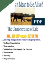 Characteristics of Life (1)