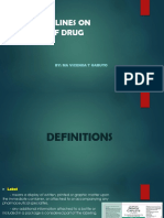 Bfad Guidelines on Labeling of Drug Products