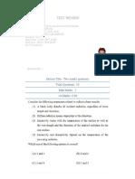 Test-3 on Basic Thermodynamics & Heat Transfer