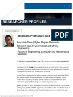 Associate Professor Alex Ng Researcher Profiles