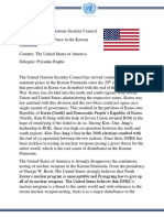UNSC- United States of America Position Paper