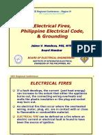 Electrical Fires, PEC & Grounding