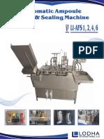 LI_AFS, Ampoule Filling and Sealing Machine