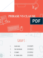 Ppt Phrases vs Clauses