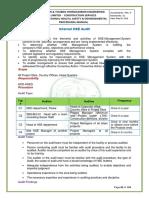 Internal HSE Audit Procedure