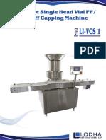LI - VCS 1, Single Head Vial Cap Sealing Machine