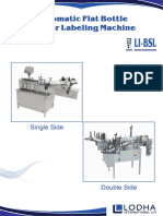 Automatic Bottle Sticker Labeling Machine, LI-BSL