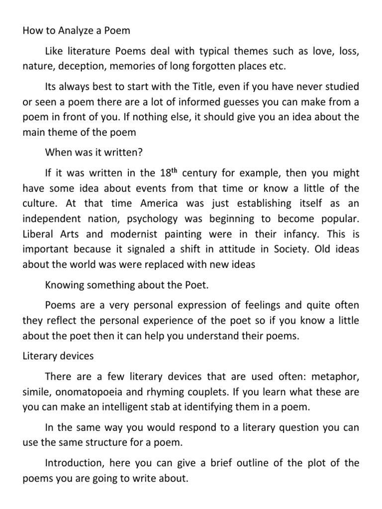 How To Analyze A Poem William Wordsworth Romanticism