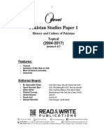 417 Pakistan Studies Classified Paper 1 (First Unit)
