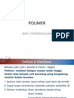 Bab 1 Polimer Pendahuluan