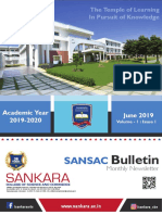 SANSAC Bulletin - Monthly Newsletter June 2019