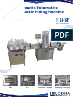 Automatic Volumetric Liquid Bottle Filling Machine, LI-BF