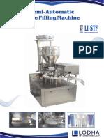 Semi Automatic Tube Filling Machine, LI-STF