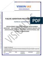 Development Processes and the Development Industry vision ias