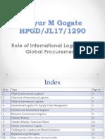 role of international logistics Ppt