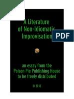 A literature of non idiomatic improvisation poison pie publishing house.pdf