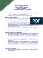 Protocolo de Actuación para seguimiento de casos