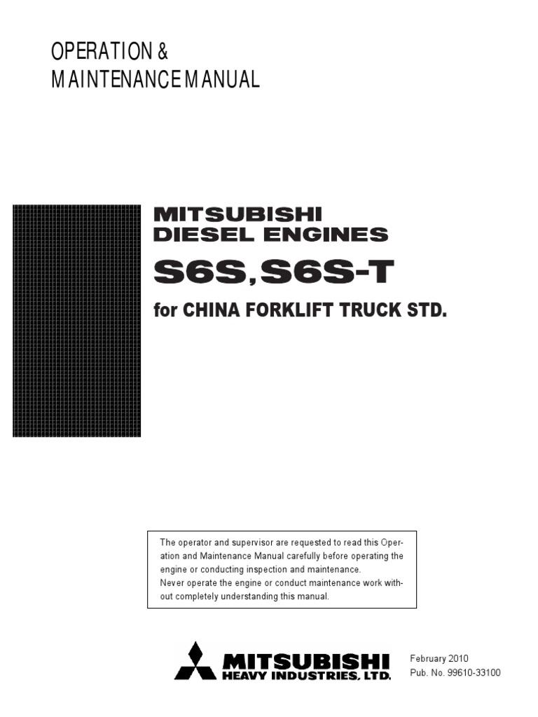 Details about  /Mitsubishi S6S Forklift Driveshaft Pump Shaft